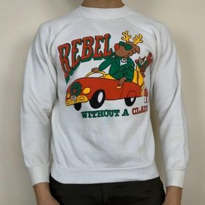 vintage Rebel without a Claus sweatshirt